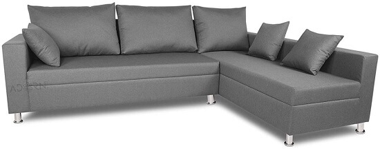Adorn India Straight line L Shape Sofa