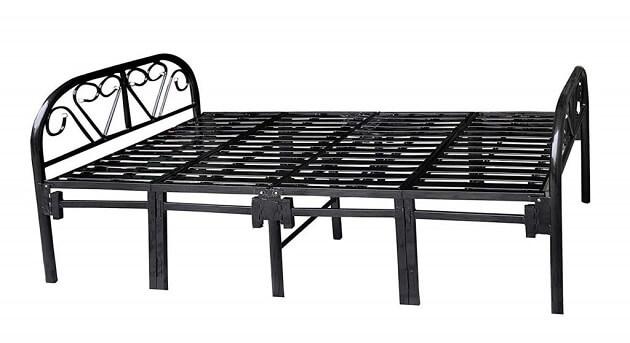 Metal Black Portable Single Folding Bed