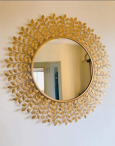 Furnish Craft Steel Glass Wall Mirror